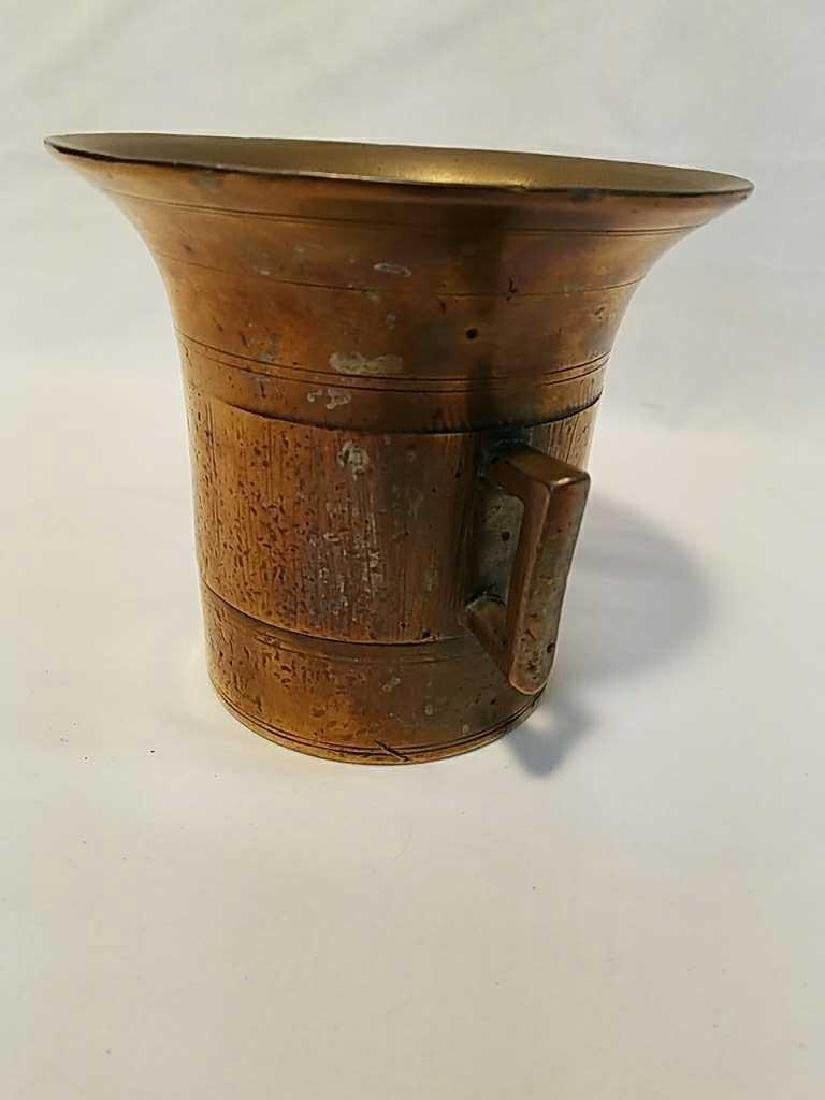 Antique Solid Brass Apothecary Mortar and Pestle - 6