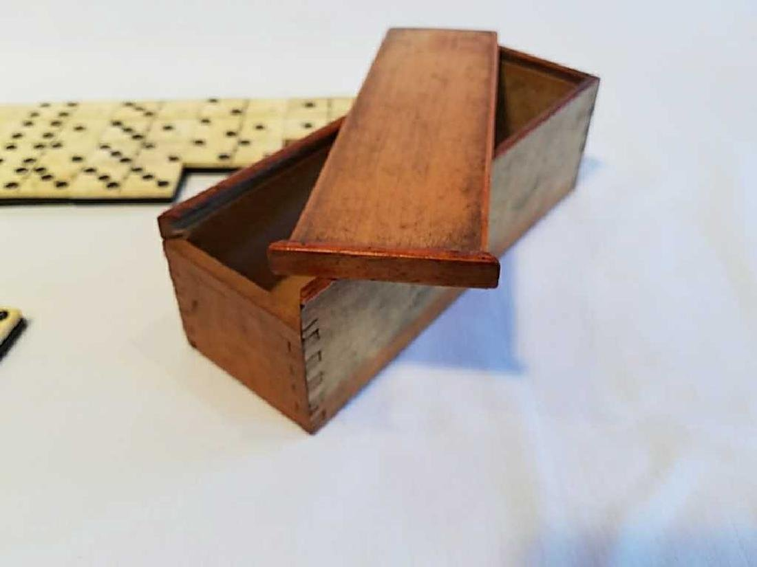 Antique 1800's Ebony Wood American Dominoes - 5