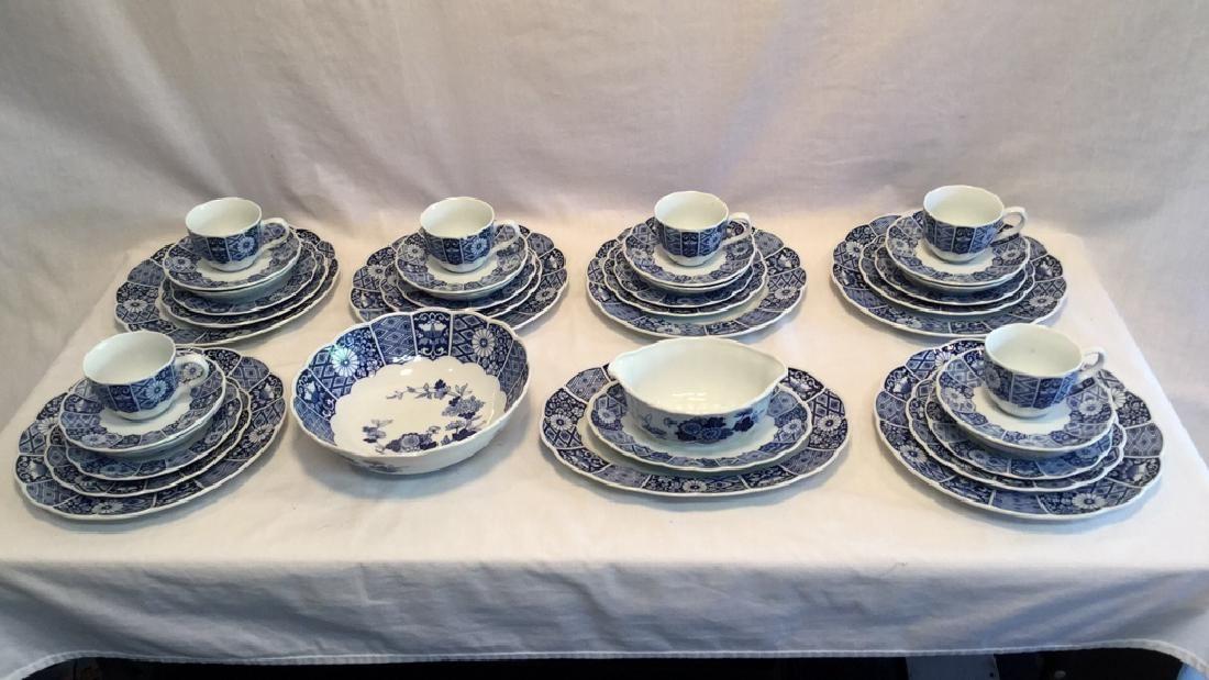 Blue Imari china set of six with extra pieces