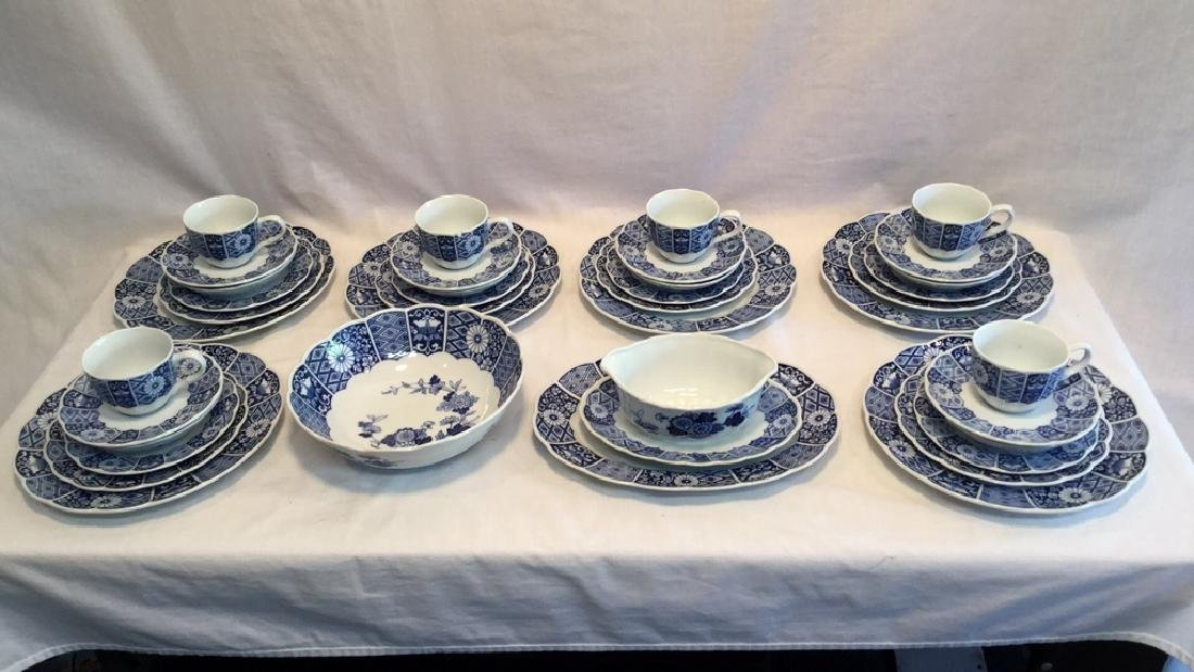 Blue Imari china set of six with extra pieces