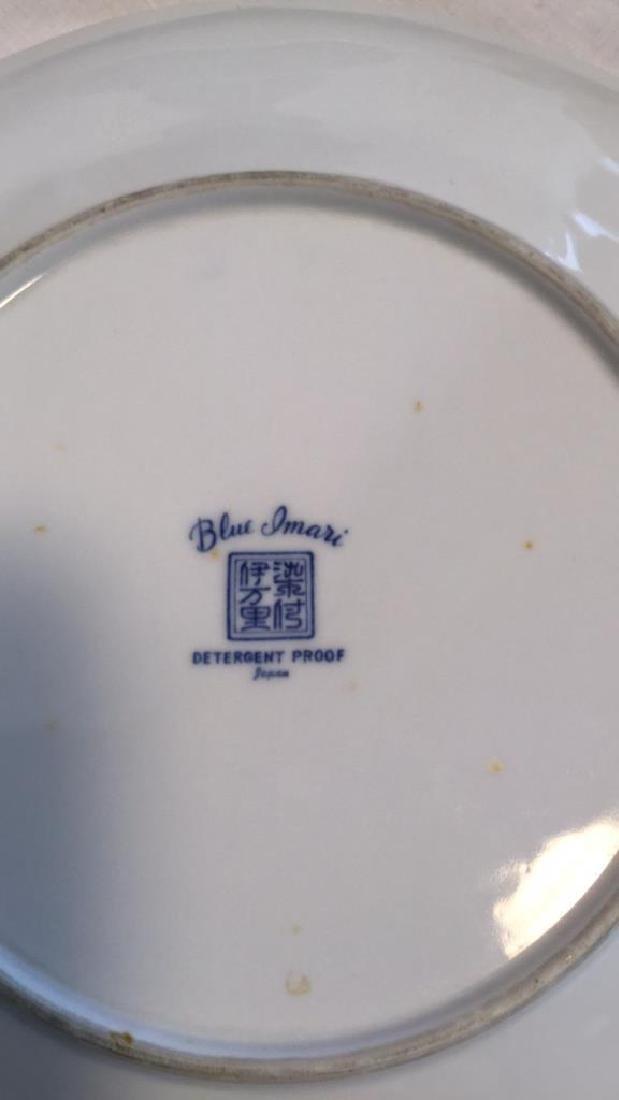 Blue Imari china set of six with extra pieces - 4