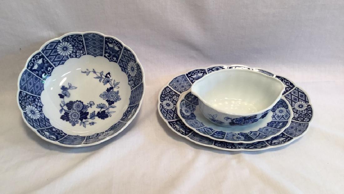 Blue Imari china set of six with extra pieces - 6