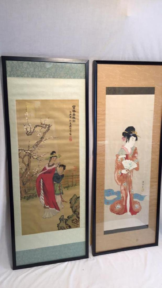 Japanese Scrolls placed in matte and framed
