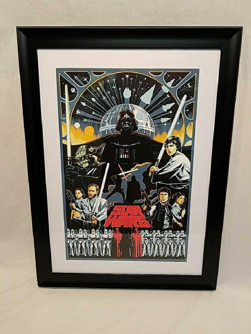 Star Wars Saga Screen Print by Eric Tan