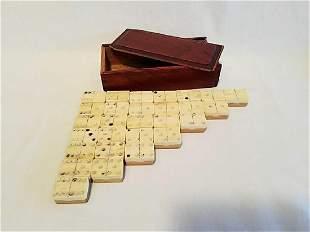 Early 1930s Bone & Bamboo Domino Set