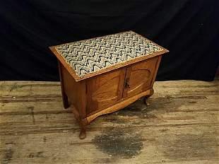 Oak Piano Bench Cabinet