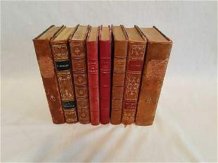 Vintage French leather bound books 1893-1926