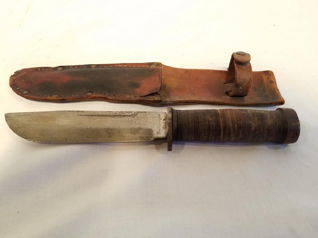 CATTARAUGUS 225Q KNIFE W LEATHER SHEATH