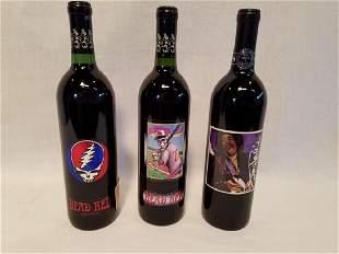 Grateful Dead and Jimi Hendrix Unwine bottles