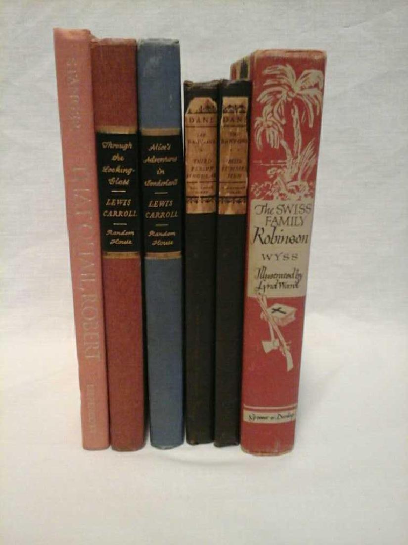 Six Fictional Vintage books