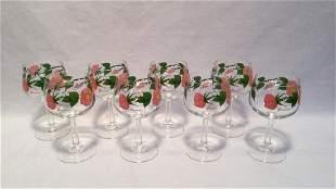 Desert Rose Goblets by Franciscan set of eight