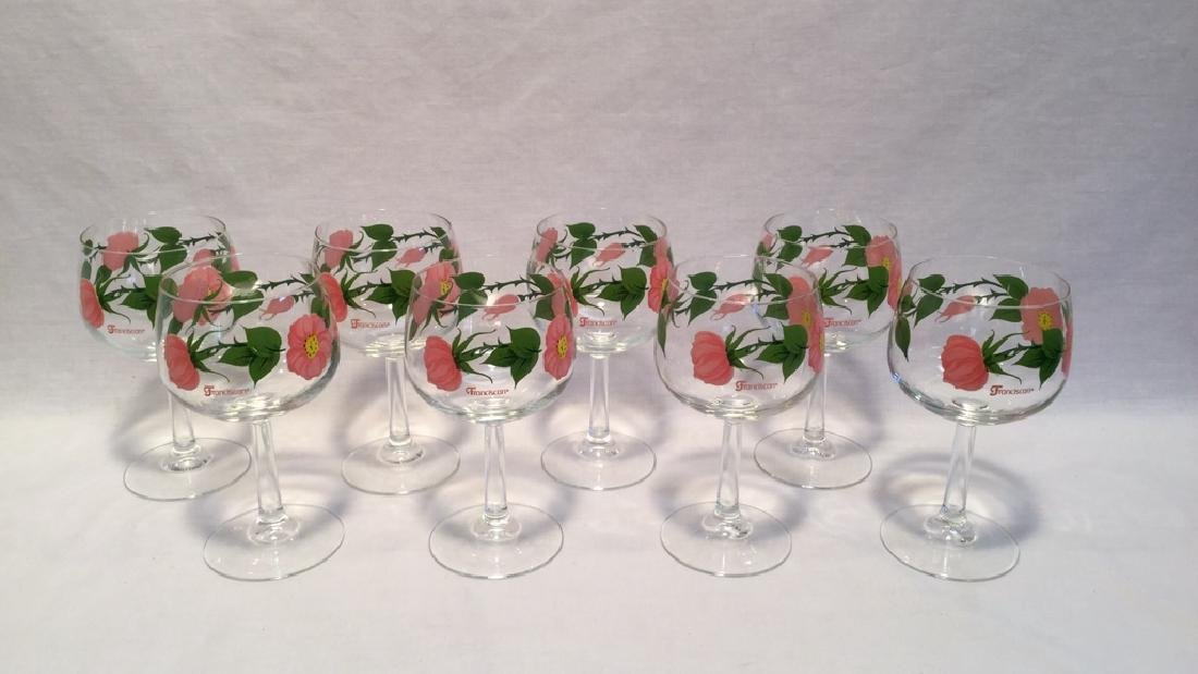 Desert Rose Goblets by Franciscan set of eight