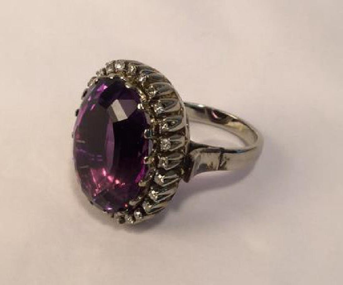 African Amethyst 14 cgs white gold & diamonds REVISED$