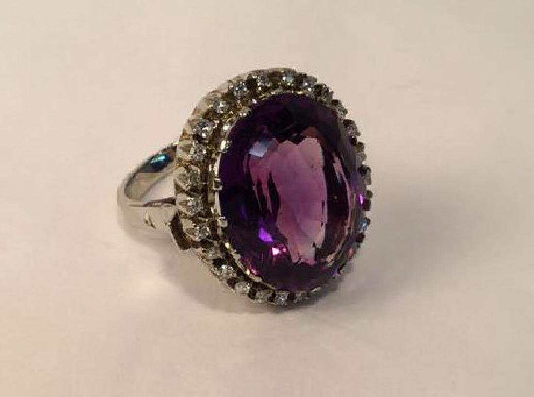 African Amethyst 14 cgs white gold & diamonds REVISED$ - 2