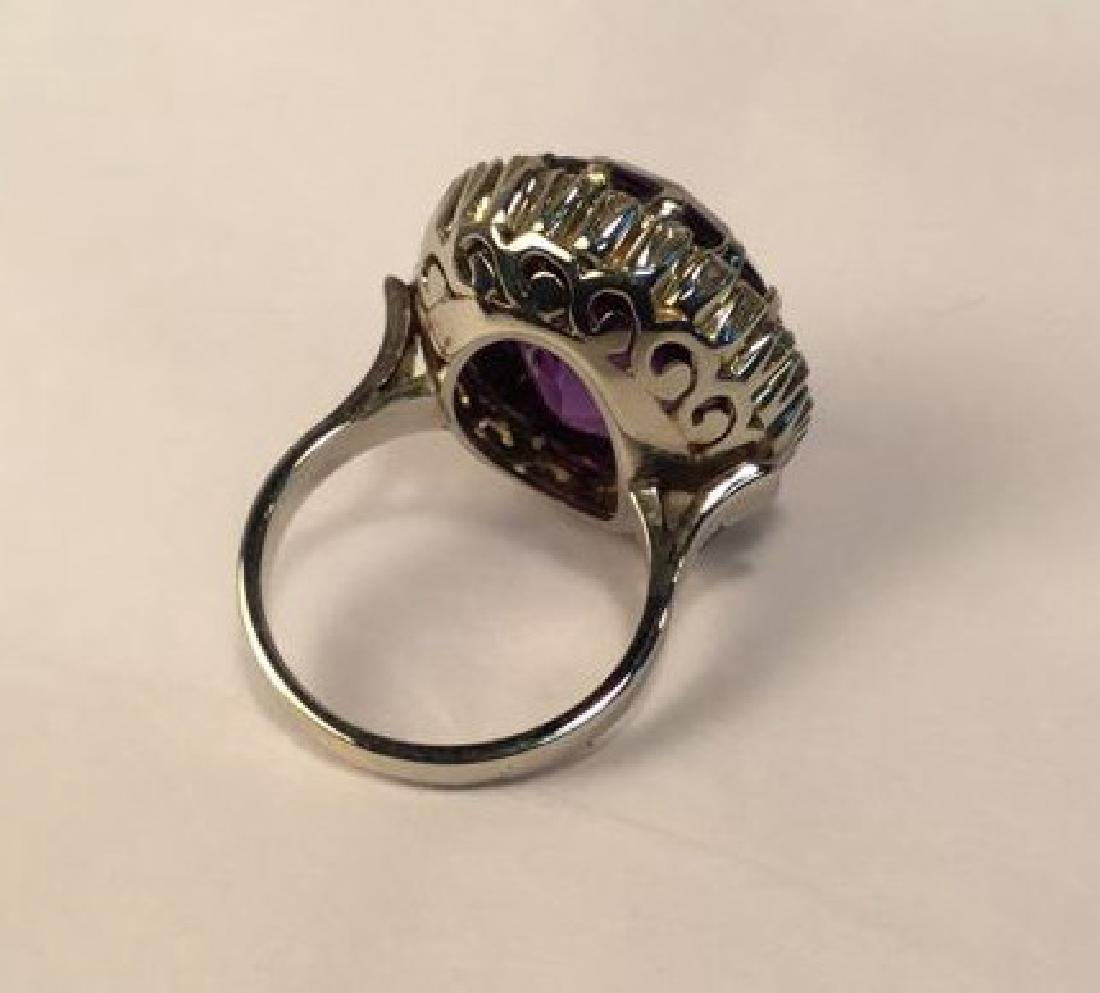 African Amethyst 14 cgs white gold & diamonds REVISED$ - 3