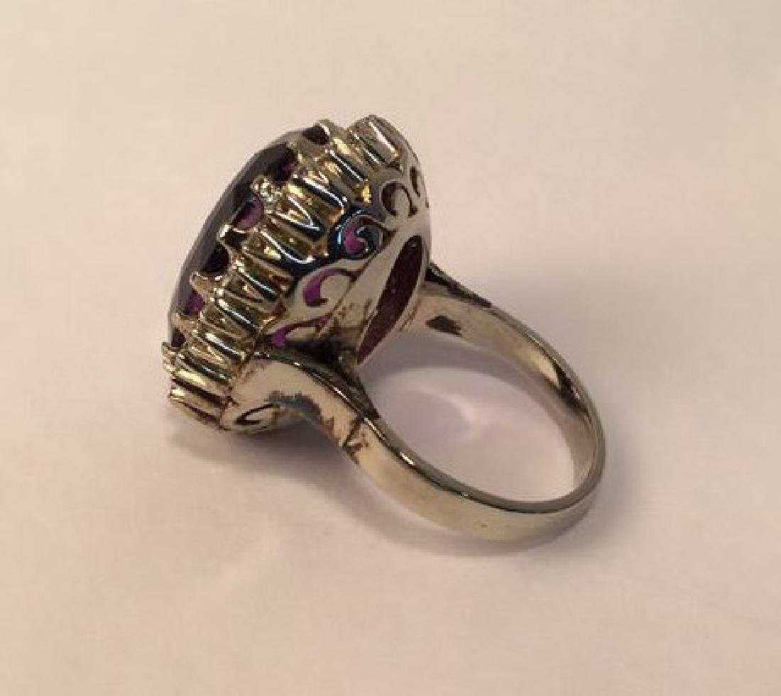 African Amethyst 14 cgs white gold & diamonds REVISED$ - 4