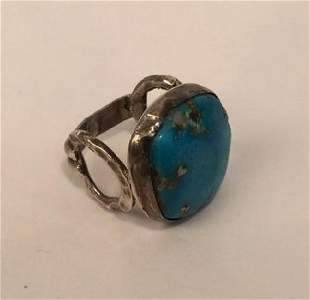 Arizona Turquoise with Gold Custom Ring