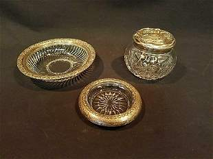 Two Silver Plate dished and covered dish