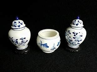 Porcelain Mini Ginger Jar with bowl