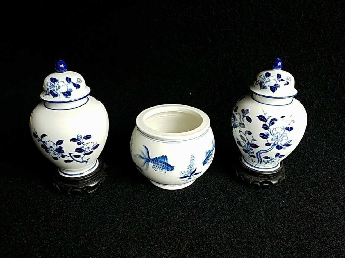 Porcelain Mini Ginger Jar with bowl