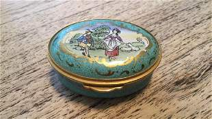 Reuge Staffordshire Enamal Egg Shaped Music Box
