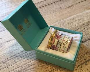 Reuge Tiffany Enamal Jar Music Box