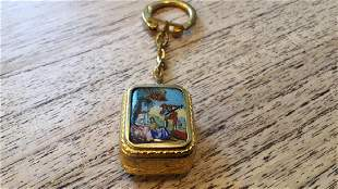 Reuge Miniature Enamal Keychain Music Box