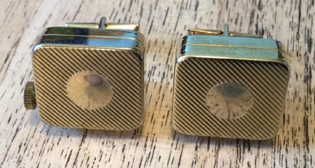Rare Cufflink Music Box set