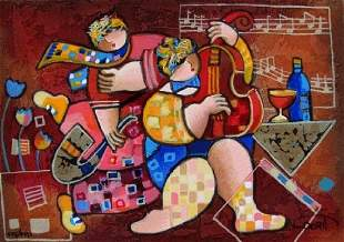 """Merry Music"" serigraph on paper by Dorit Levi"