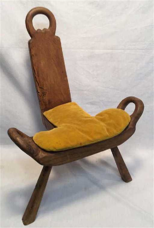 - Antique Primitive Hardwood Birthing Chair