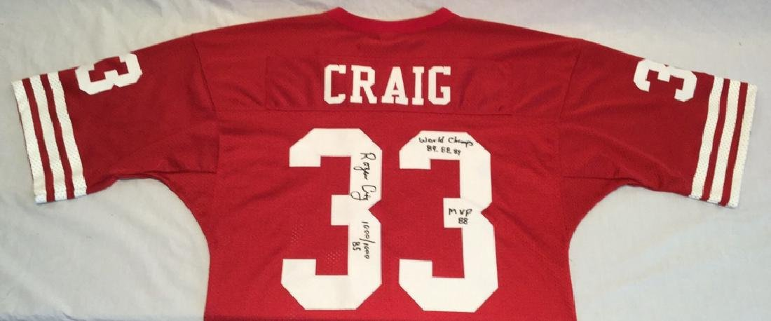 Rare Roger Craig Signed Football Jersey