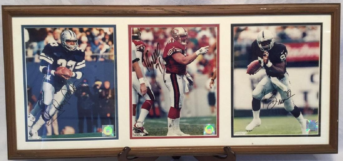 Tony Dorsett, Kevin Greene,Tim Brown Signed Photo