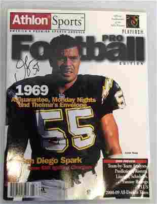 RARE Junior Seau signed Athlon Sports Magazine