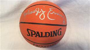 Julius Erving Signed mini rubber basketball