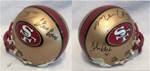 49er Mini Helmet Steve B., Mike C., Harris B. +1