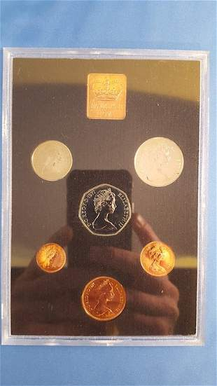 1971, 78, 79 Britain and Ireland Coin Sets