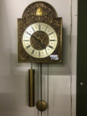 Hanging grandfather clock