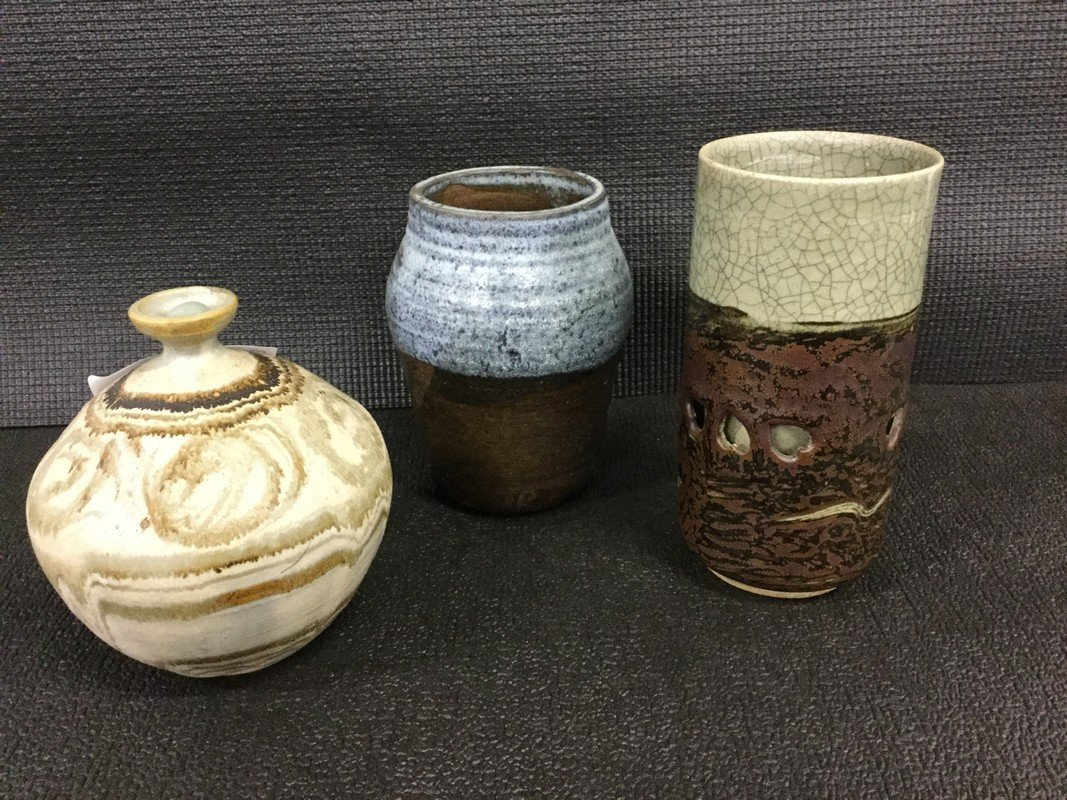 Three ceramic vases