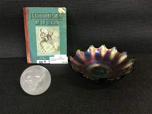 Black Americana book and crystal ball