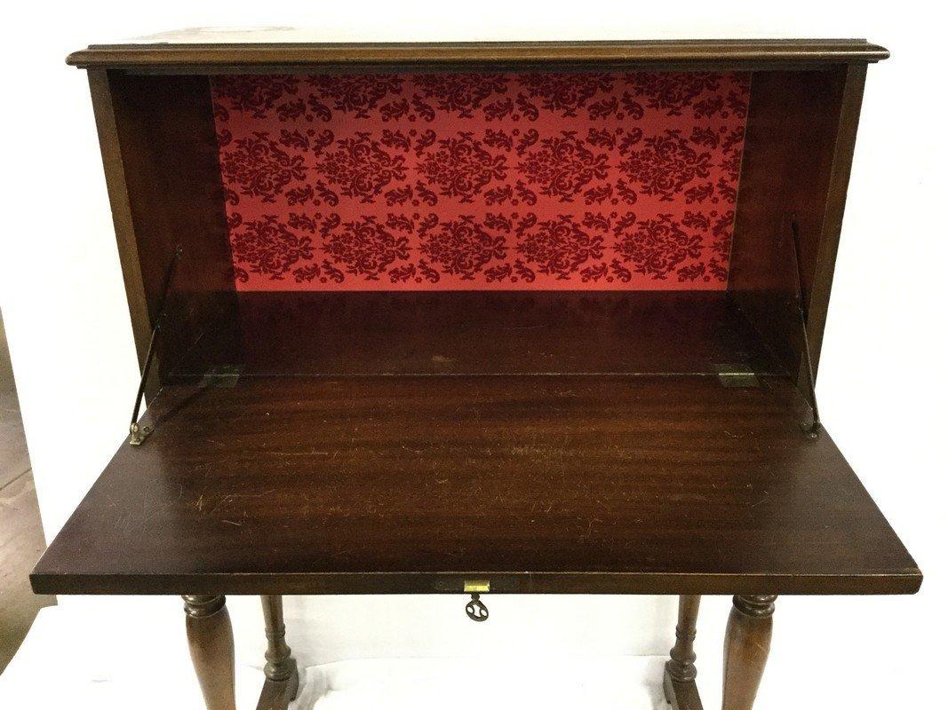 Mahogany drop front cabinet - 2
