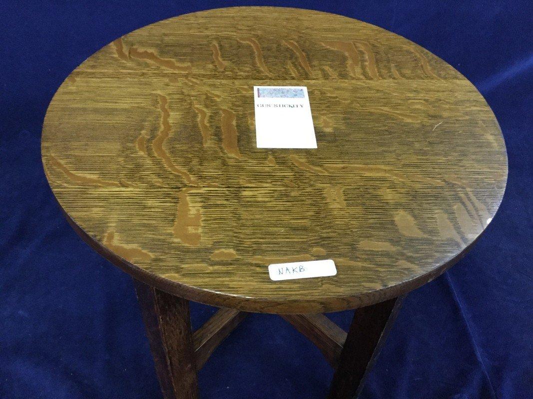 Gustav Stickley round oak table