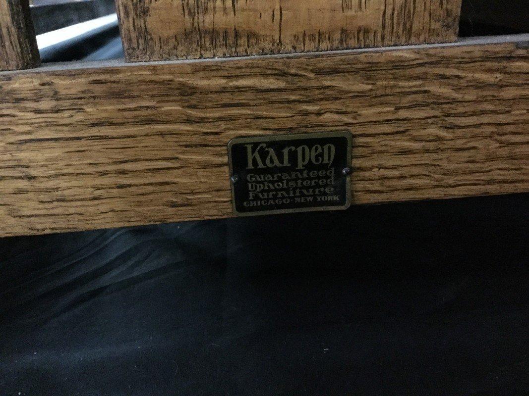 Karpen arts and craft oak daybed. - 2