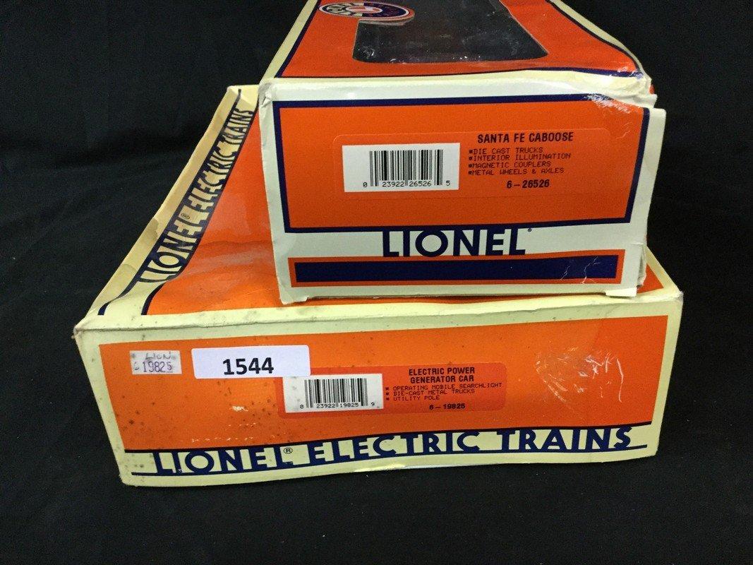 Two Lionel train cars