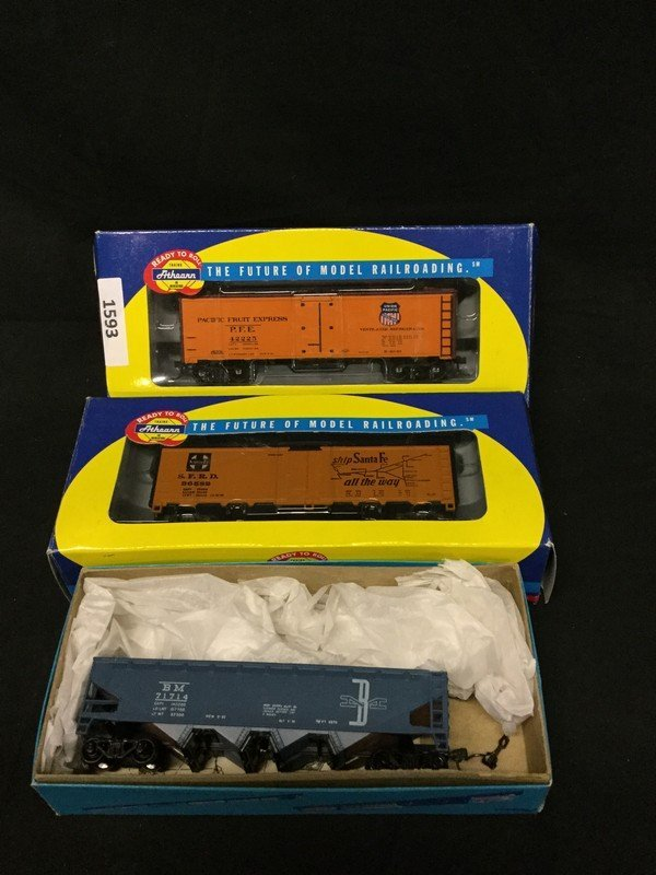 Three Athearns Trains in Miniature model reefers