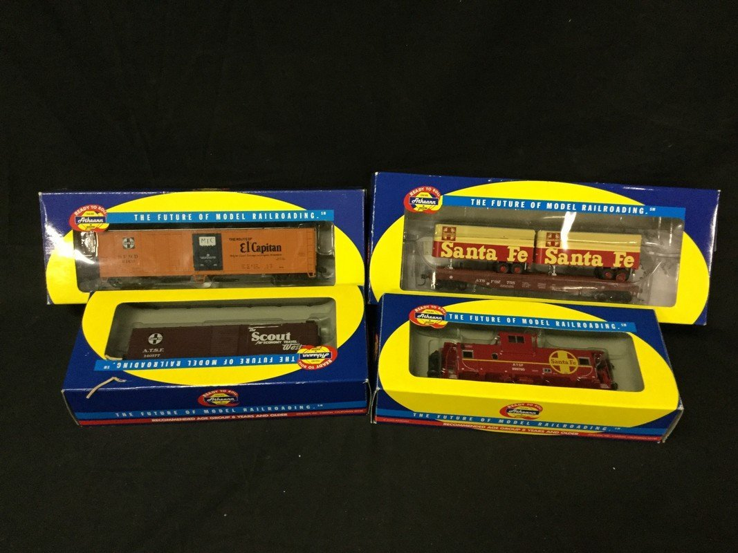 Athearn ready to roll caboose boxcar side reefer and