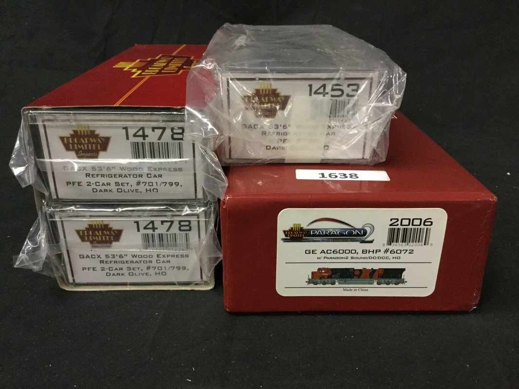 Set of 4 Broadway Limited Imports cars and Paragon - 2