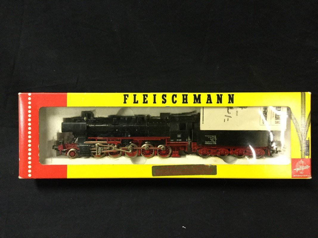 Fleischmann metal train engine and coal car. Made in