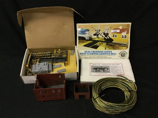 Laser kit building, Bachmann railroad crossing, and - Sep 17