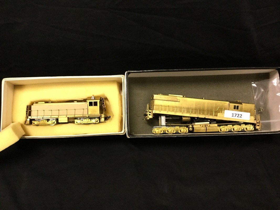 Two brass locomotives