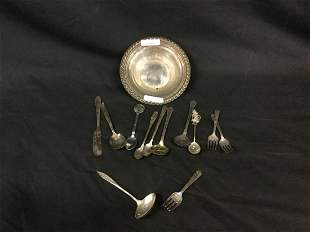 Silverplate and silver Dinnerware
